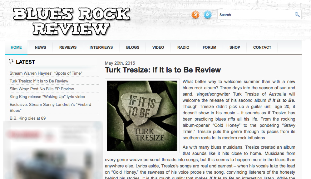 BLUES ROCK REVIEW – IF IT IS TO BE